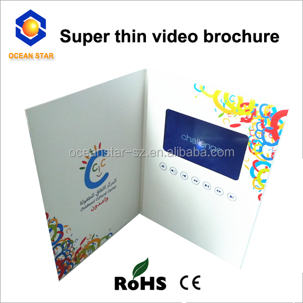 Super Thin A5 Cover Size 4 3inch Wedding Invitation Card Lcd Video Brochure Lcd Video Booklet Buy Luxurious Wedding Invitation Card Pocket Wedding