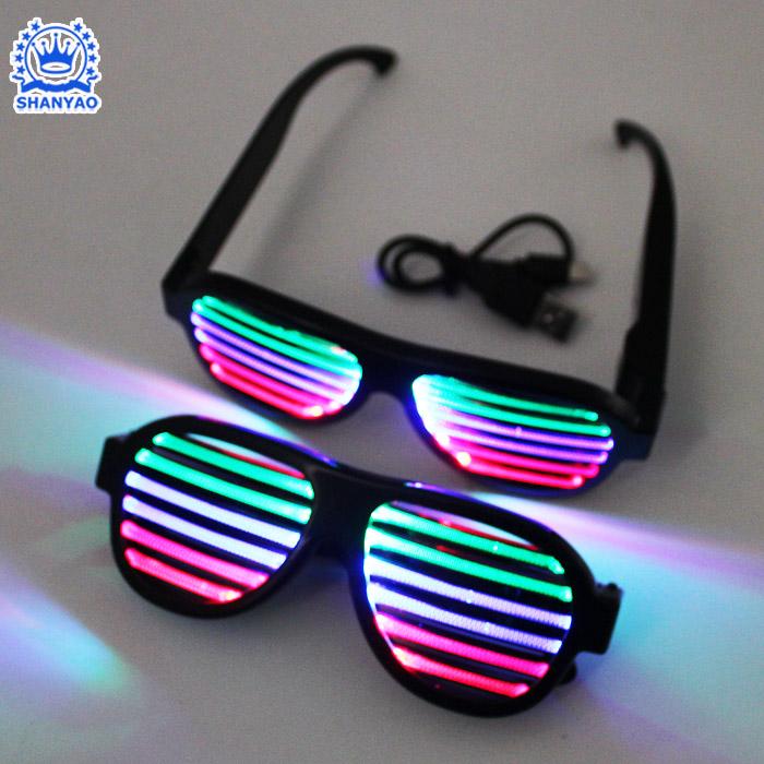 Voice LED Glasses-004