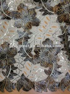 african french swiss big sequin lace