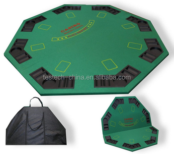 Poker Night   120cm Green Felt FOLDING CASINO TABLE TOP For 8 Players