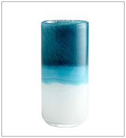 New Design Tall Small Chinese White and Blue Cylinder Flower Glass Vases Table Decoration