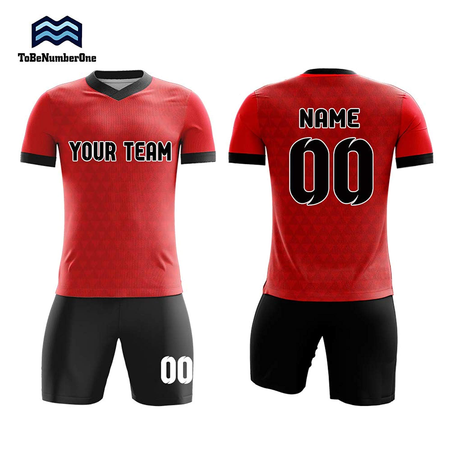 7e44c13cc8dd3 Get Quotations · Custom red Soccer Jerseys Sublimation Print Any Name,Number  for Your Team Uniforms