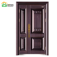 Popular modern turkish door steel security china wholesale hot sale single and half door
