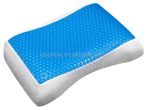 Contour Memory Foam Cooling Gel Pillow For Neck & Shoulder Muscles
