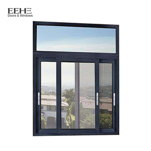 Superieur Office Interior Triple Track Aluminum Framed Sliding Window