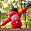 Hot selling customized brand EVA+Plush pink pig design kids backpacks wholesale