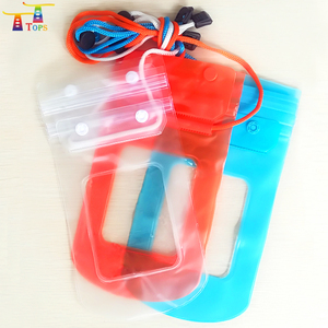 Double buckle zip lock bag waterproof bag pvc water proof pouch for mobile phone