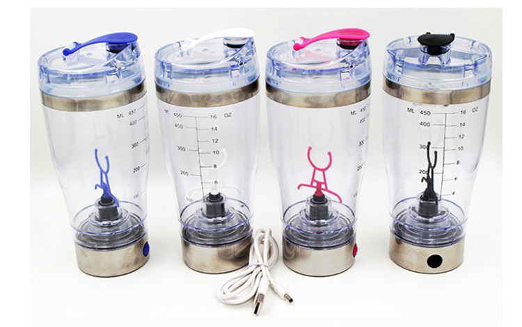 600ml electric rechargeable BPA free protein shaker cup
