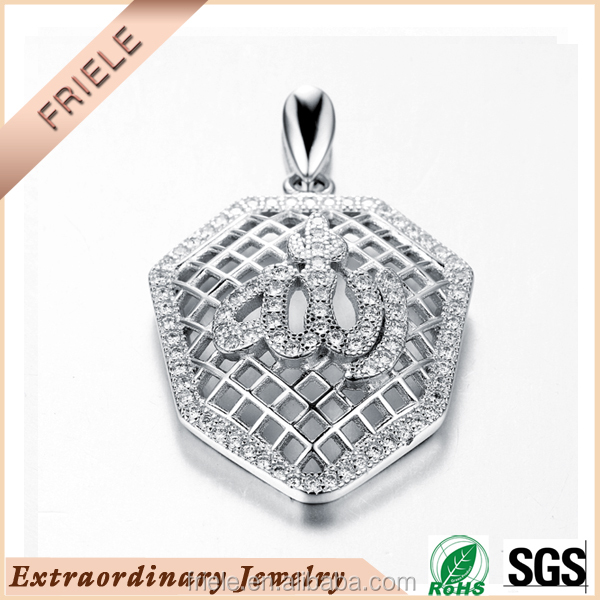 2015 fashion design 925 sterling silver mesh necklace pendant