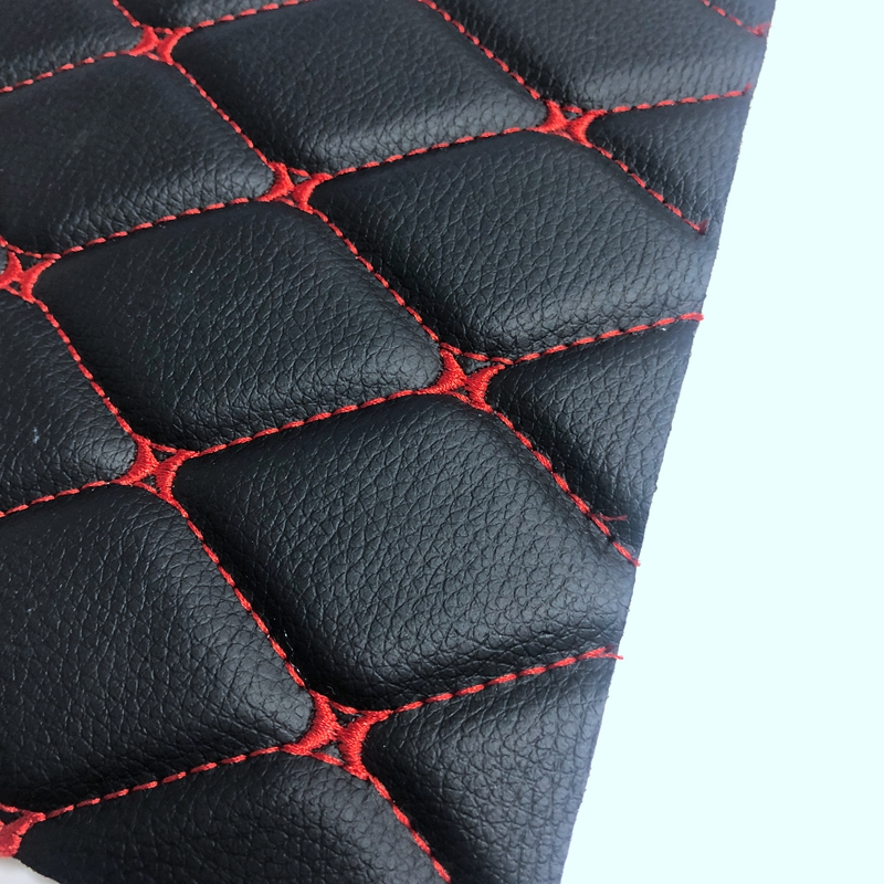 Different color embroidery PVC <strong>leather</strong> for car seat cover and car mat usage