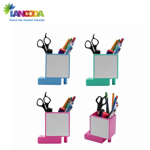Sublimation Blank Photo Plastic Pen Holder with meta insert