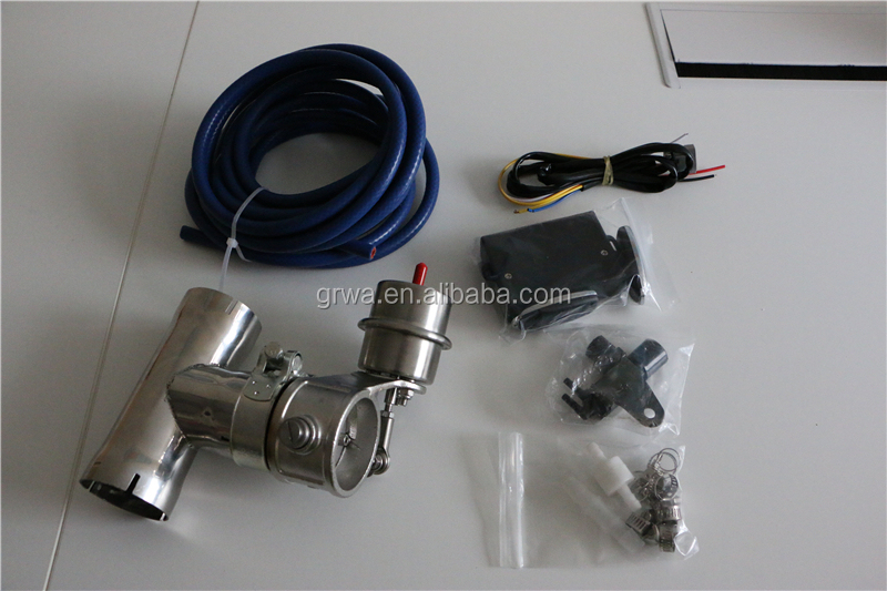 Stainless steel exhaust vacuum valve with remote control
