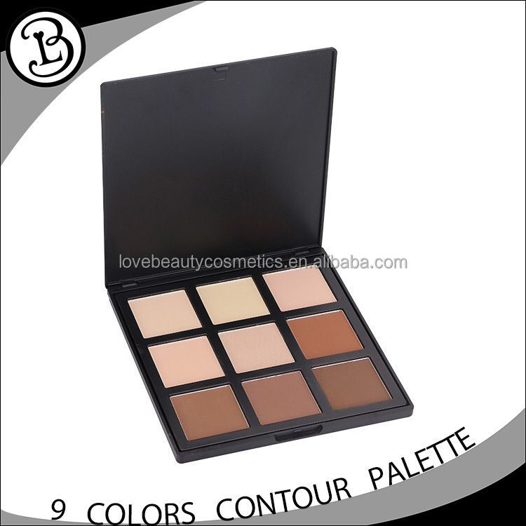 2017 New Arrival 9 colors highlighter contour kit private label