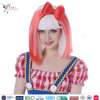Styler Brand party halloween 16 insch wigs cheap long haircuts fiber hair white and pink wig