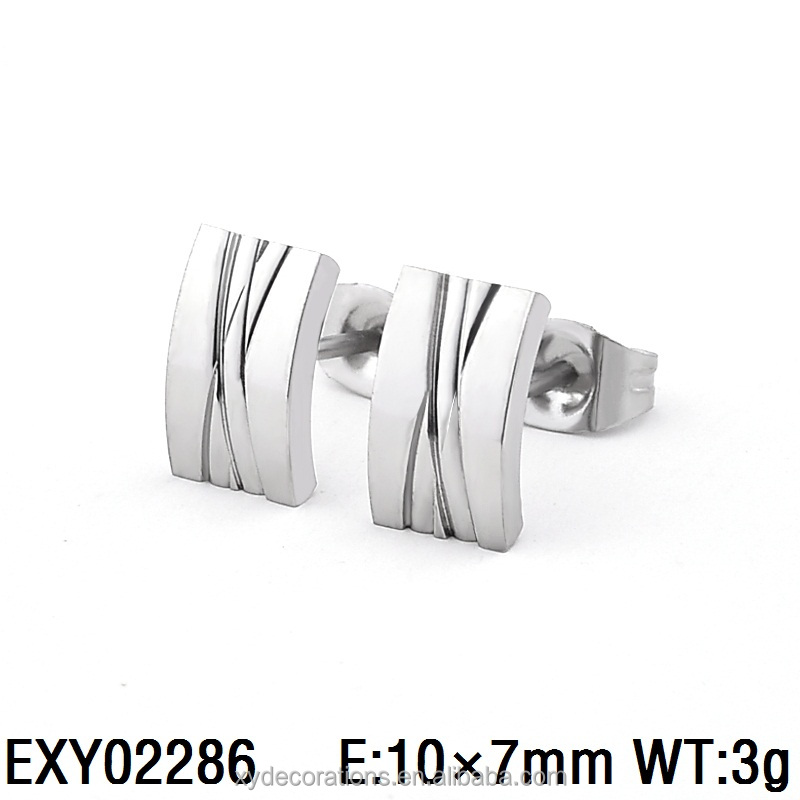EXY02286 China factory wholesale men and women cross ear studs 316l stainless steel jewelry fancy design stud earrings