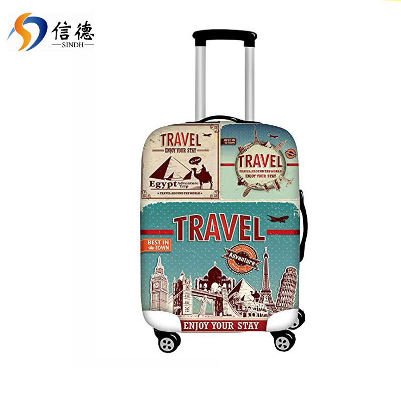 洗えるスパンデックス旅行荷物プロテクター手荷物スーツケースカバーフィット 20-32 インチ
