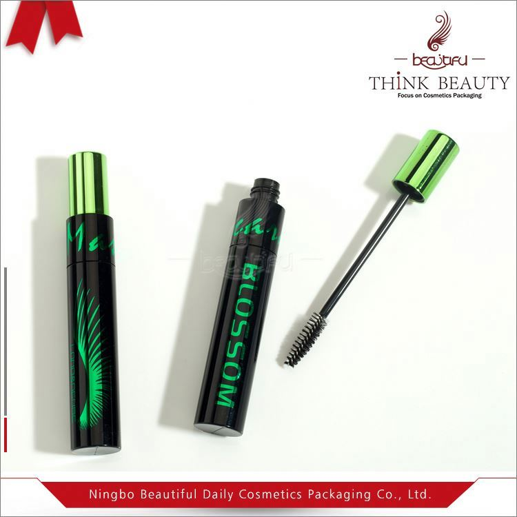 Milk White Plastic Mascara Tube with Bling Bling cap