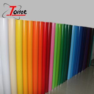 manufacturer clear sticker/pvc vinyl sticker paper roll/eco self adhesive vinyl film