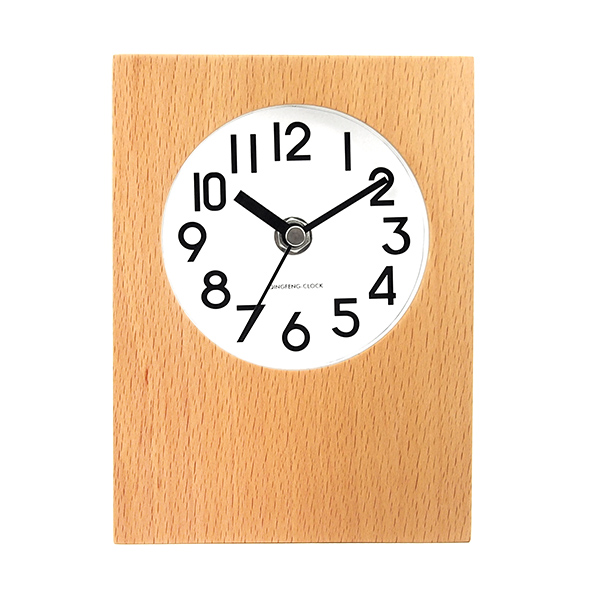 2016 new product 100% wooden table clock,alarm clock