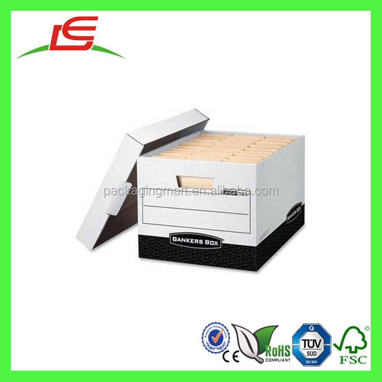J629 Wholesale High Quality Customized Printed Bankers Box