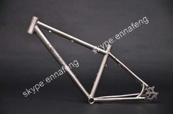 21'' Hidden Disc Brake Titanium Mountain Bike Frame Tapered Head Tube Outer  Cable Routing With Bottle Cage For Usa Oem - Buy Titanium Mountain Bike