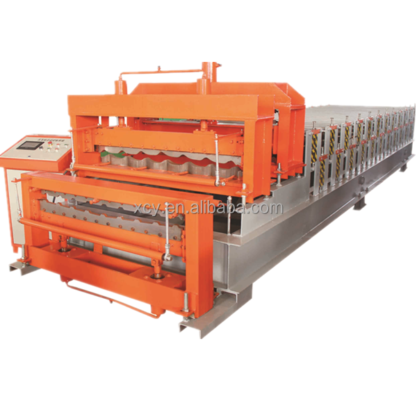 China best price double layer Roof Use and Tile Forming Machine Type roof panel roll forming machine line