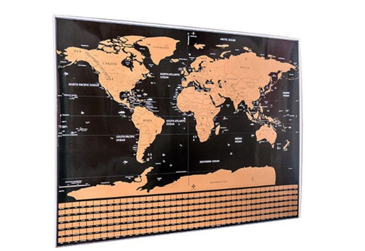 Wholesale Newest Deluxe World Map Poster World Scratch off Map
