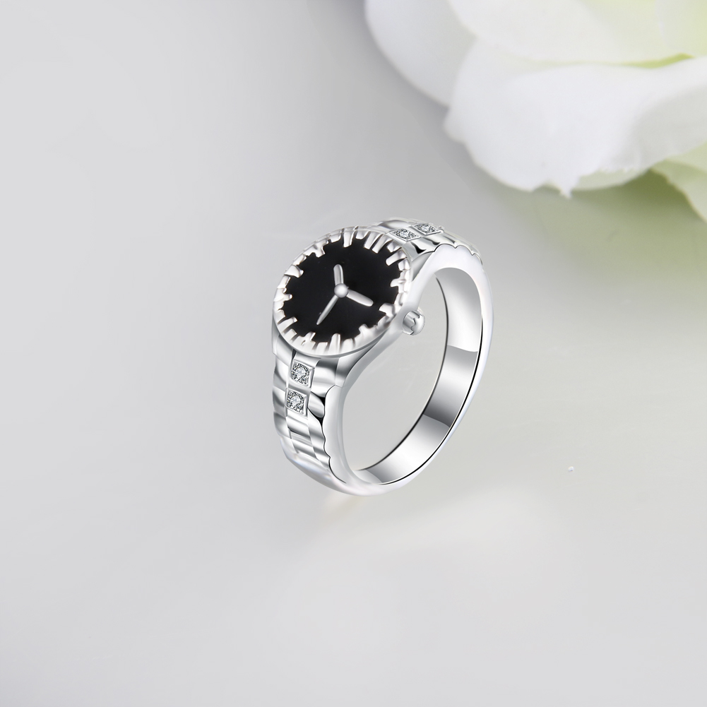 Hot Selling Design Silver Metal Women Jewelry Watch Ring