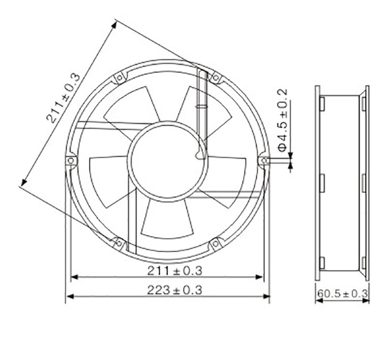 Ds22060abhl Radiator Evaporative Cooling Axial Fan Motor Brushless