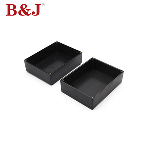 B&J High Quality Customized Black Abs Plastic Waterproof Electrical Junction Box