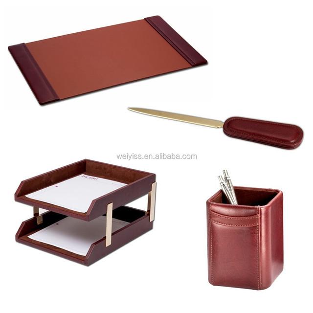 Zint State-of-The-Art ideale come regalo aziendale Portapacchi da scrivania in pelle