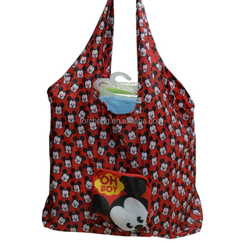custom foldable plastic shopping tote bag