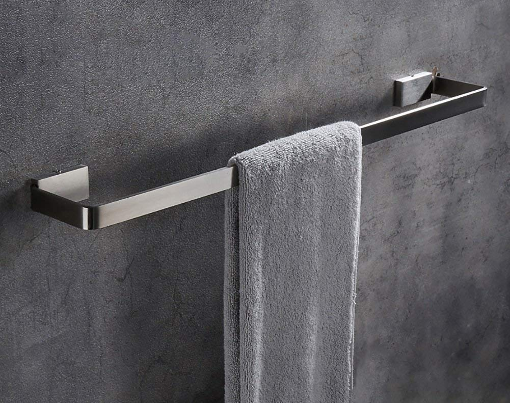 EQEQ Towel Holder Towel Holder/Modern Fine Animal Hair Bath Towel Depend 304 Stainless Steel Wire Towel Rack Bathroom Shelving More Single (Size: 60 cm).