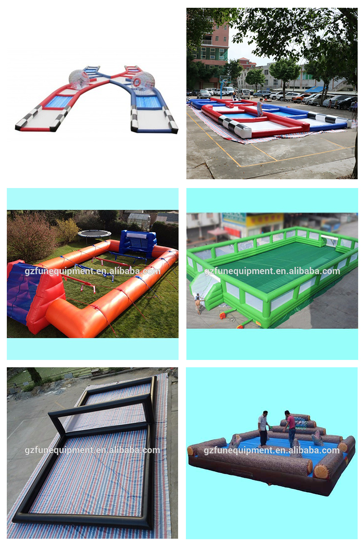 manufacturer wholesale bubble Soccer double Field Lighting Inflatable Zorb Ramp For Sale