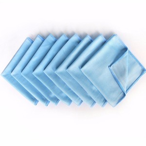 Factory direct sales wholesale custom blue microfiber glasses towel lenses cleaning cloth