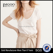 MGOO Hot Sale 100% Cotton T Shirt Printing Short Sleeve V Neck Shirt For Women Casual