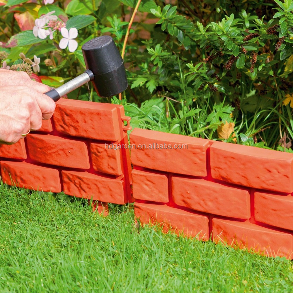 plastic garden brick edging terracotta garden edging buy plastic garden brick edging terracotta garden edgingplastic garden fence product on alibabacom - Plastic Garden Edging