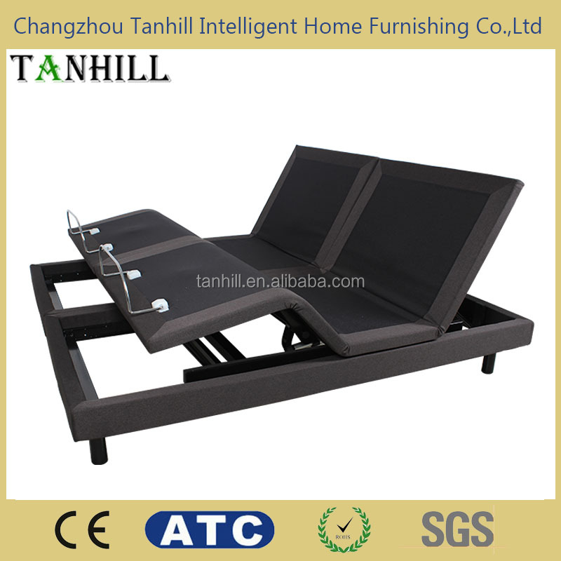 Wholesaler adjustable bed base only with two motors mechanism