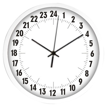 24 hour analog wall clock modern wall clocks