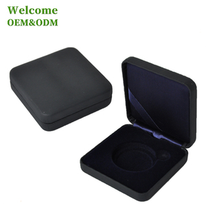 Packaging black gift small square custom printed metal tin box for coin