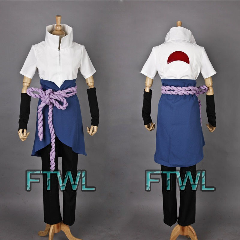 Hot-Anime-Naruto-Shippuden-Sasuke-Uchiha-Cosplay-Costume-Full-Set-Custom