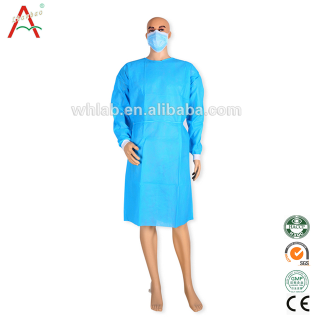 disposable PP surgical gown with velcore or tape
