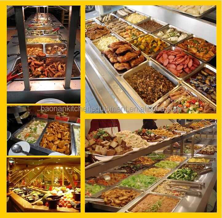 Bn b09 commercial salad bar restaurant buffet equipment for Food bar manufacturers