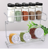 Kitchen organizer storage rack metal under cabinet spice rack