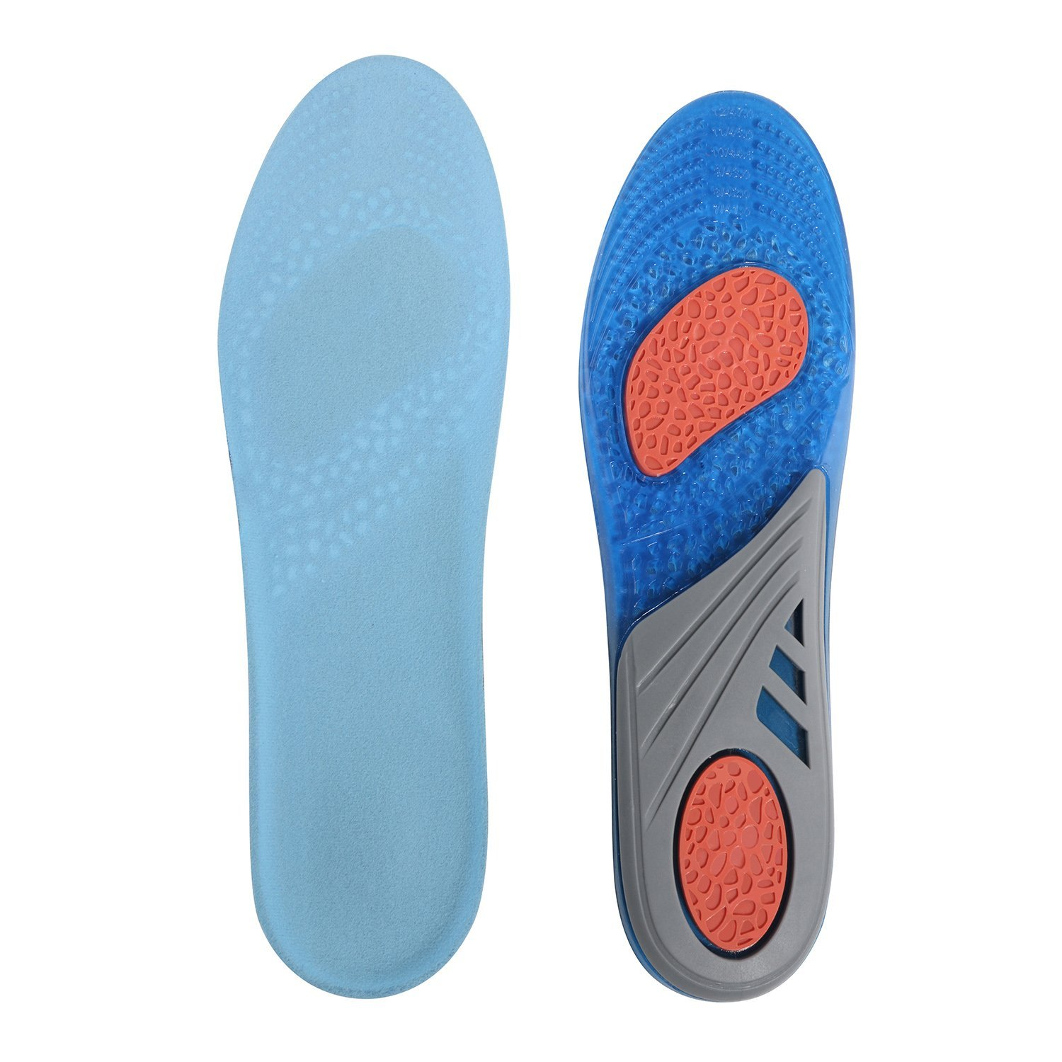 0123bf5729be1b Get Quotations · Gel shoe Insoles Full Length Comfort Insert Insoles for Men  and Women Shock Absorbing Gel Insoles