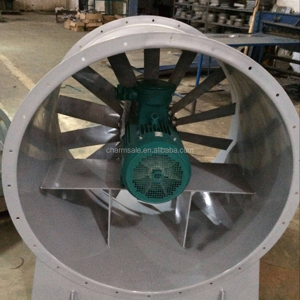 120C High Temperature resistance low noise axial Industrial fan for wood drying furnace