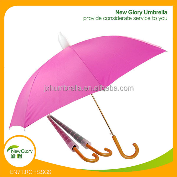 60cm 8k Promotional Rain Umbrella Plastic Cover Metal Frame with Logo