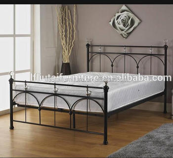 European Style Iron Steel Bed Frame Double Size Iron Bed