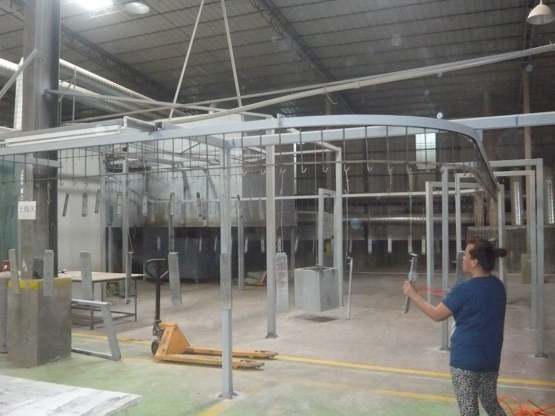 Powder Coating Oven Fully Automatic Overhead Hanging