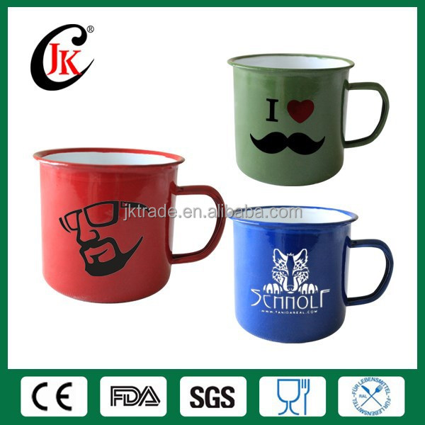 Wholesale customized logo printing mug camping enamel cup